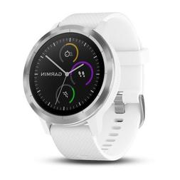 vivoactive 3 white silicone stainless smart activity