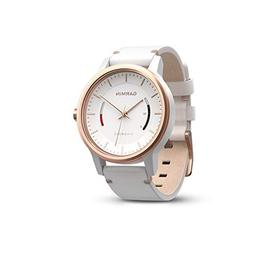 Garmin Vivomove Classic w/Leather Band  White/Rose Gold