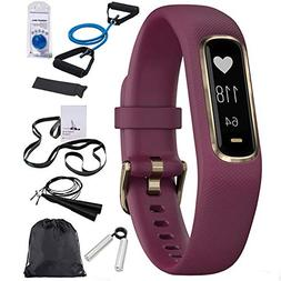 Garmin Vivosmart 4 Berry with Light Gold Hardware   with Dec