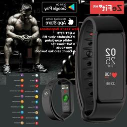 Waterproof Fitness Activity Tracker Heart Rate Smart Watch B