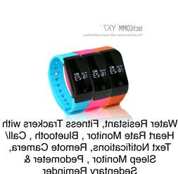 TechComm YX7 Water-Resistant Fitness Tracker with Heart Rate